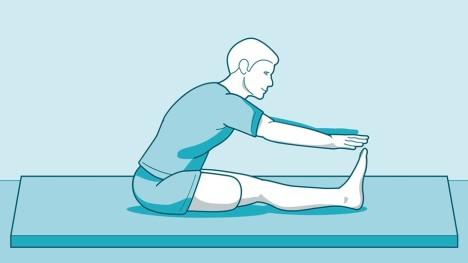 Stretching the hamstrings